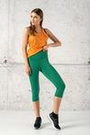 Fitness Leggings 3/4 Shiny 2 Green - OSTF-1250T
