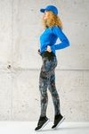 Running Leggings with a belt 4K Ultra HD Pine Blue - OSLP-12L3