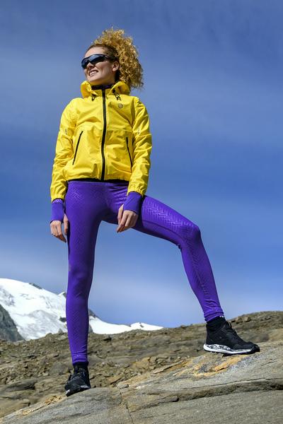 Running Leggings with a belt  Shiny 2 Purple - OSLP-1260T