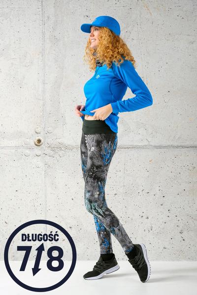 Leggings 7/8 mit Multifunktions-Bund 4K Ultra HD Pine Blue - OSLP7-12L3