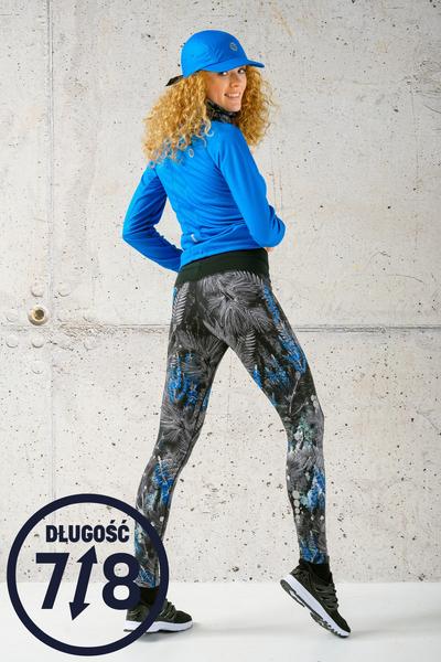 Running Leggings 7/8 with a belt 4K Ultra HD Pine Blue - OSLP7-12L3