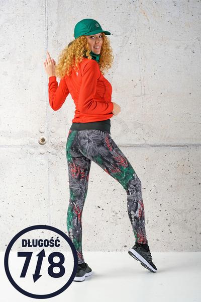 Running Leggings 7/8 with a belt 4K Ultra HD Pine Red - OSLP7-12L2