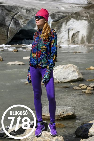 Running Leggings 7/8 with a belt 4K Ultra HD Shiny 2 Purple - OSLP7-1260T