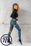 Running Leggings 7/8 Mosaic Lumo - OSLZ7-12M4