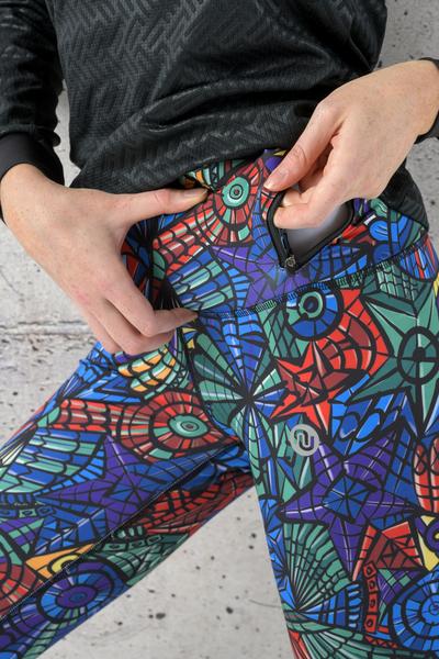 Legginsy Do Biegania Mosaic Lumo - OSLZ-12M4