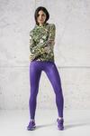 Legginsy Do Biegania Shiny 2 Purple - OSLZ-1260T