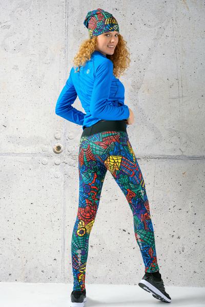 Warm leggings Mosaic Lumo - OLOV-12M4