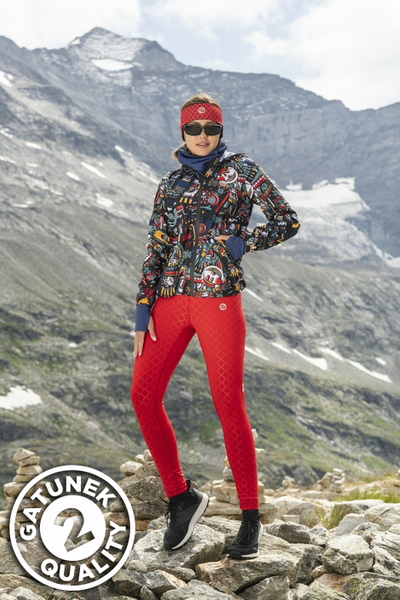 Leggings mit Multifunktions-Bund Shiny Red II Quality - OSLP-20-G2