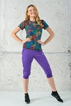Bloomers 3/4 Light Shiny 2 Purple -  SCC3-1260T