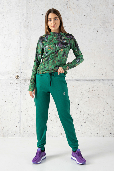 Loose trousers Green Mirage - SDWN-11X5