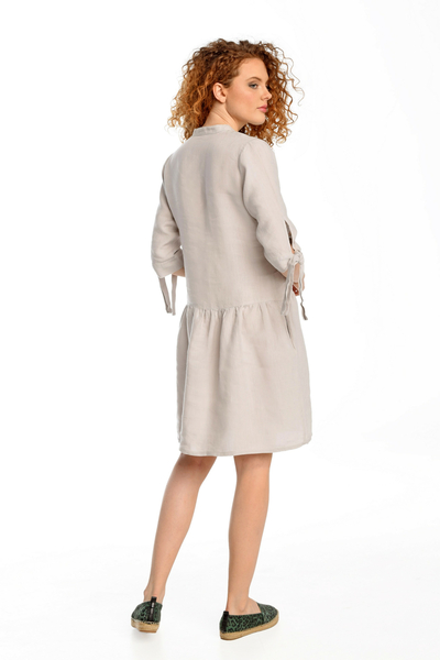 Summer Linen Dress Chica Grey II Quality - ILS-80-G2