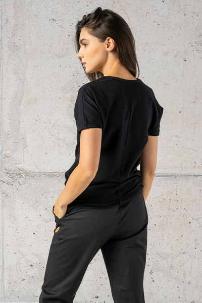 Ecocotton Loose Black T-shirt - ITB-90NG