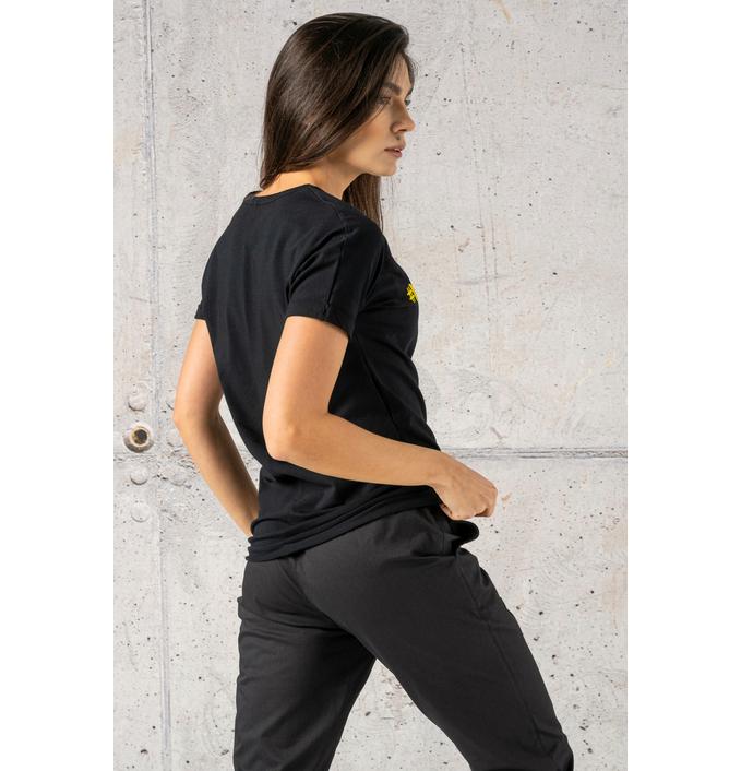 Ecocotton Loose Black T-shirt - ITB-90NG - packshot