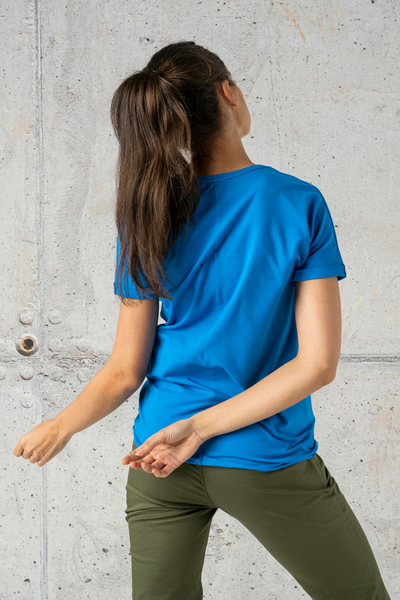 Ecocotton Loose Blue T-shirt - ITB-50NG