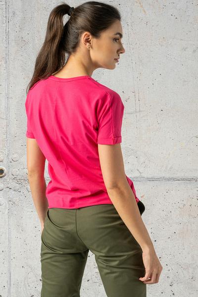 Ecocotton Loose Pink Petite T-shirt - IYB-30NG