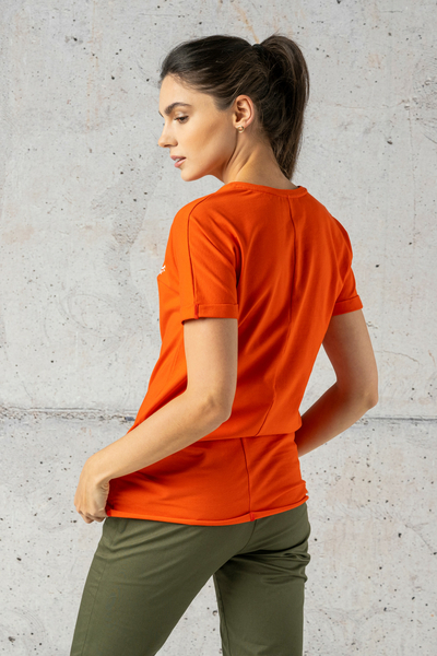 Ecocotton Loose Red T-shirt - ITB-20NG