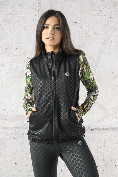 Sleeveless jacket Shiny Black - HBD-1190T
