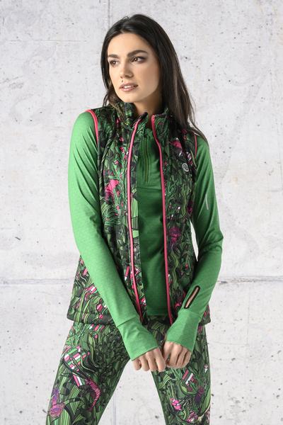 Sleeveless jacket Green Mystery - HBD-13L1