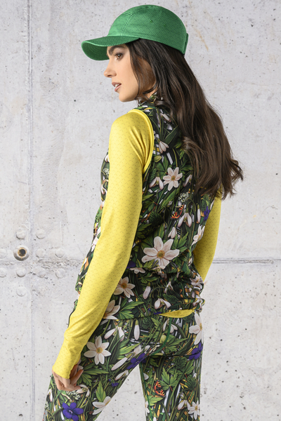 Sleeveless jacket Wild Flowers - HBD-13W1