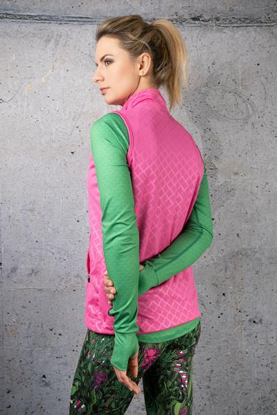 Sleeveless jacket Shiny Royal Pink - HBD-1120T