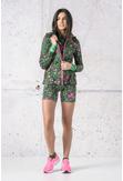 Ladies zipped hoodie Shiny 2 Black - HRDK-13L1 - packshot