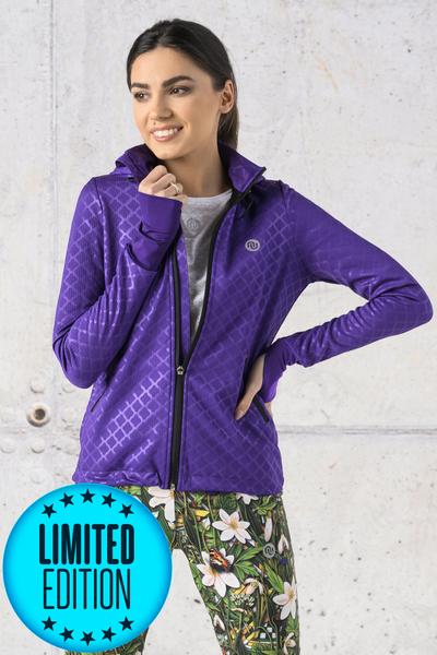 Bluza Biegowa Z Kapturem LIMITOWANA Shiny Purple - HRDK-1160T