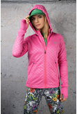 Ladies zipped hoodie Shiny Royal Pink - HRDK-1120T - packshot