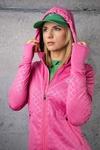 Bluza Biegowa Z Kapturem Shiny Royal Pink - HRDK-1120T