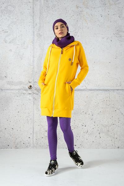 Long Sweatshirt With Hood - Fuerta Yellow II Quality - ORFR-10-G2