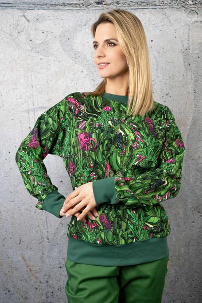 Sweatshirt Green Mystery - OKRN-13L1
