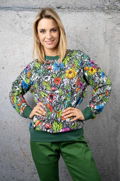 Sweatshirt Mosaic Natura - OKRN-13M4