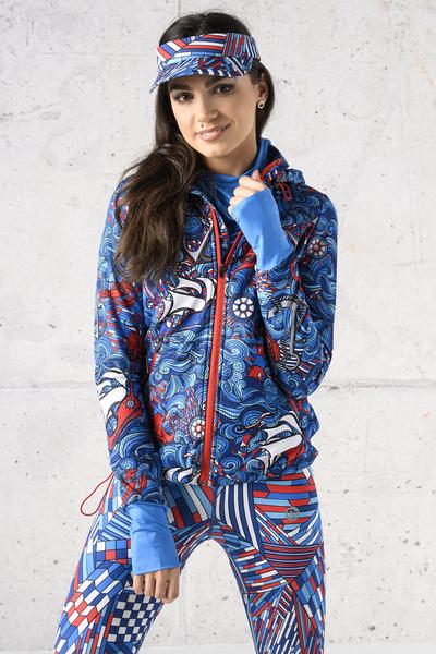 Ladies zipped hoodie Shiny 2 Black - HRDK-13F1