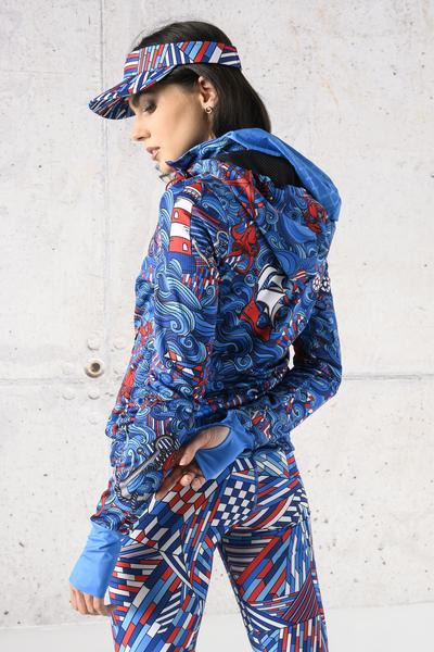 Ladies zipped hoodie Blue Ocean - HRDK-13F1