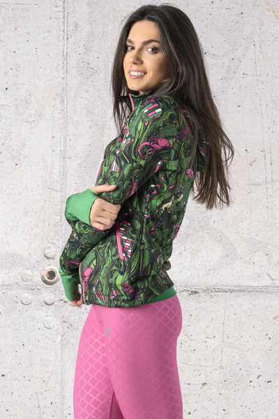 Ladies zipped hoodie Green Mystery - HRDK-13L1