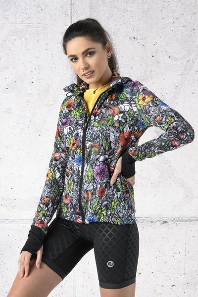 Ladies zipped hoodie Mosaic Natura - HRDK-13M4