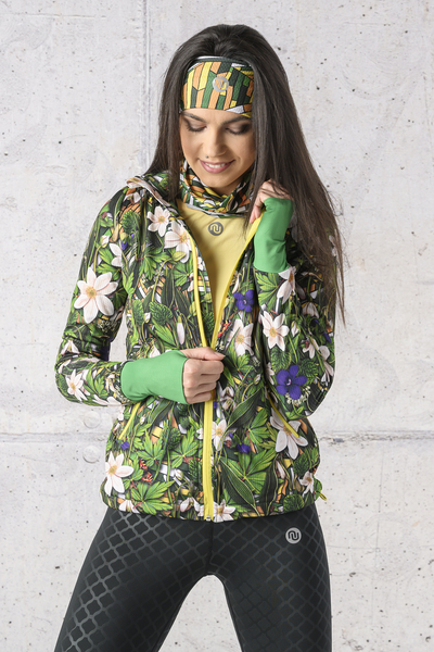 Ladies zipped hoodie Shiny 2 Black - HRDK-13W1
