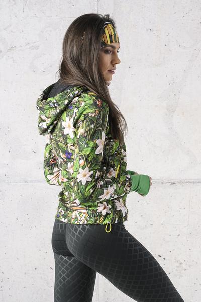 Ladies zipped hoodie Wild Flowers - HRDK-13W1