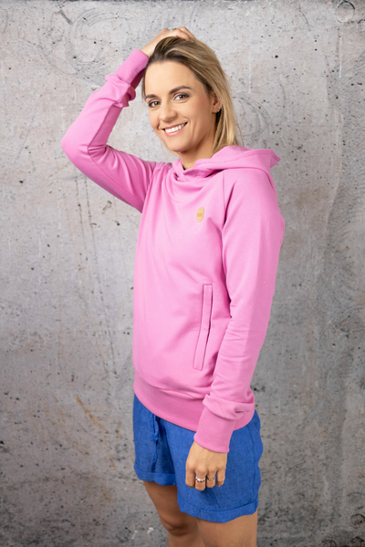 Sweatshirt With Hood Kayo Pink - OKYD-30