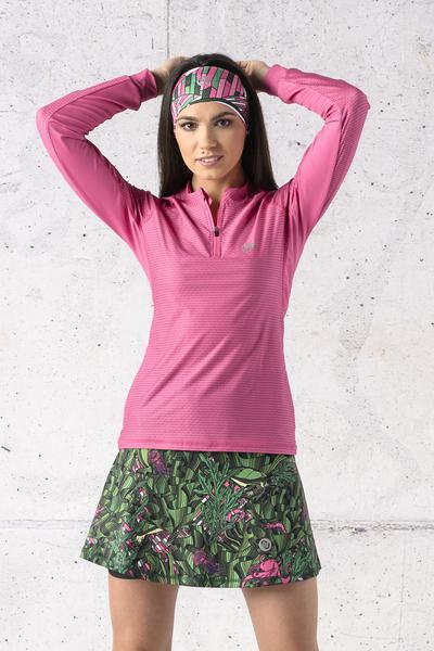 Training sweatshirt Zip Pink Karbon - KLC-02