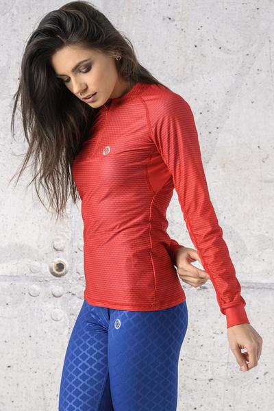 Training sweatshirt Zip Red Karbon - KLC-04