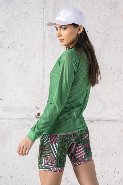 Training sweatshirt Zip Green Karbon - KLC-07