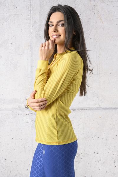 Training sweatshirt Zip Yellow Karbon - KLC-11