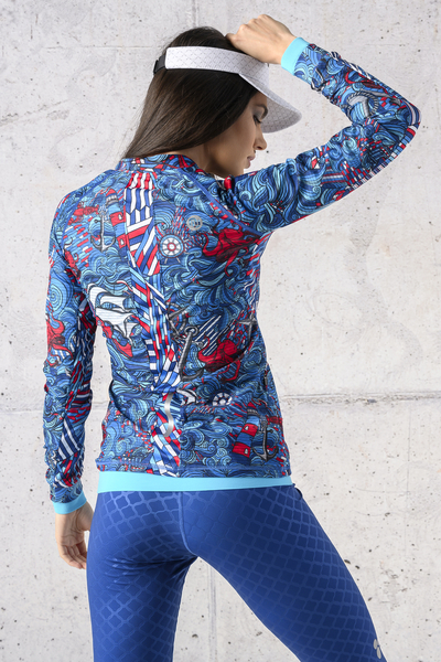 Training sweatshirt Zip Blue Ocean Karbon - KLC-13F1