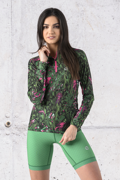 Training sweatshirt Zip Green Mystery Karbon - KLC-13L1