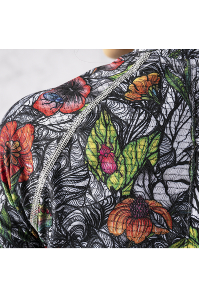 Training sweatshirt Zip Mosaic Natura Karbon - KLC-13M4
