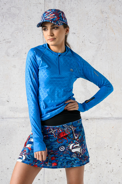 Training sweatshirt Zip Shiny Royal Blue - LBKZ-1151T