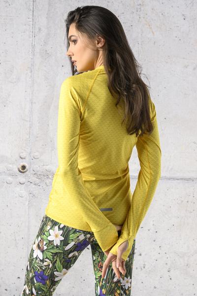 Training sweatshirt Zip Yellow Mirage - LBKZ-11X1