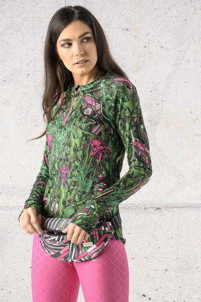Training sweatshirt Zip Green Mystery - LBKZ-13L1