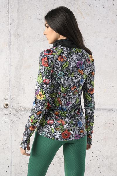 Training sweatshirt Zip Mosaic Natura - LBKZ-13M4