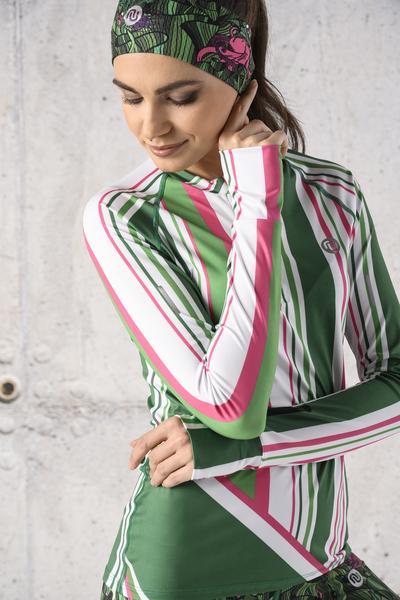 Training sweatshirt Zip Spectrum Green - LBKZ-13P7